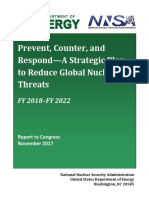 FY2018-FY2022 Prevent, Counter, and Respond—A Strategic Plan to Reduce Global Nuclear Threats