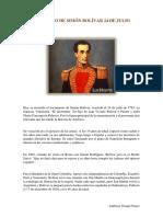 Natalicio de Simón Bolívar 24 de Julio