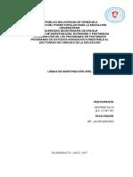 Análisis Sobre Las Líneas de Investigación Upel. Desiree