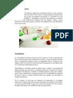 Informe de Quimica Solubilidad y Miscibilidad