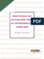 Protocolo de Actuación Para La Intervención Familiar. 2016-DIFUSIÓN