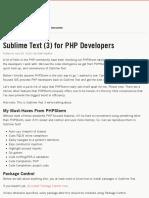 Sublime Text (3) for PHP Developers | MattStauffer.co