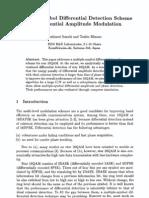 Multiple-Symbol Differential Detection Scheme