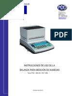 Manual Balanza Humedad Pce Mb