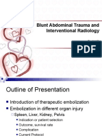 Blunt Abdominal Trauma and Interventional Radiology