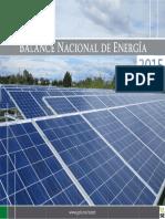Balance Nacional de Energ a 2015 2