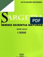Sargetia Acta Musei Devensis Series Scientia Naturae I 2010