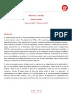Primer Informe de La Línea Roja y El OVITS
