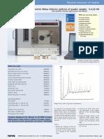 Diffractometric Debye-Scherrer Patterns of Powder Samples