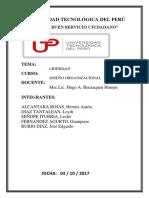 Avance de Trabajo Final - Diseño Organizacional