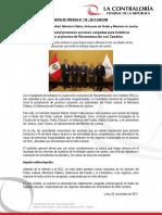 Contraloría General promueve acciones conjuntas para fortalecer supervisión al proceso de Reconstrucción con Cambios