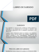 Precios Libres de Subsidios