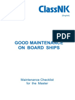 Good Maintenance on Board Ships e2017