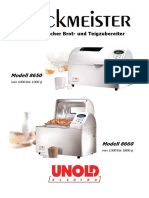 Manual for Unold Backmeister 8650-8660 EN