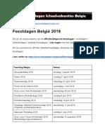 Feestdagen 2019 Belgie - Exacte Datums Op Kalender