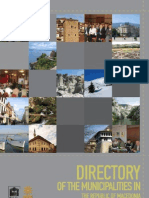 Directory of the Municipalities in the Republic of Macedonia
