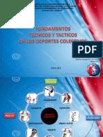 FUNDAMENTOS  TECNICOS Y TACTICOS  EN LOS DEPORTES COLECTIVOS