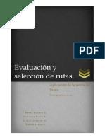 Selección y Evaluación de Rutas