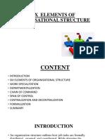 Organisational Structure Elements
