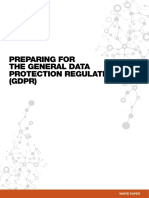Preparing General Data Protection Regulation