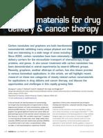 Carbon Materials for Drug