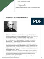 """Sarmiento_ """"Civilización o Barbarie"""" – Hojeando"""