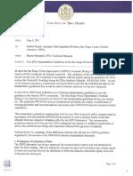 SDPD Crime Lab's (Montpetit's) Memorandum to DA About SWGDAM Guidelines
