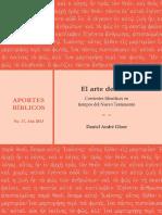 GLOOR, Daniel André (2013), El Arte de Vivir. Corrientes Filosóficas en Tiempos Del Nuevo Testamento. San José. Editorial SEBILA