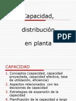 Capacidad, distribucion de planta.ppt