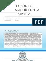 10.Relacion Del Trabajador Con La Empresa