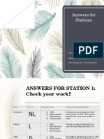 6 - answers for stations cards for review