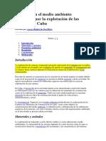 Impactos en El Medio Ambiente Producido Por La Explotación de Las Canteras en CUBA
