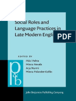 (Pragmatics & Beyond New Series 195) Päivi Pahta (Ed.), Minna Nevala (Ed.), Arja Nurmi (Ed.), Minna Palander-Collin (Ed.)-Social Roles and Language Practices in Late Modern English-John Benjamins (201