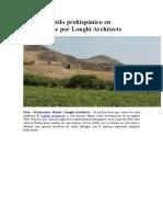 Casa Con Estilo Prehispánico en Pachacamac Por Longhi Architects