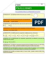 Ficha de Repaso Del Examen de Fracciones 2eso Nivel Medio