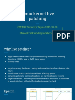 Linux Kernel Live Patching