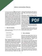 Attention Restoration Theory