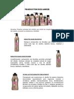 Productos Recamier
