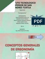 Conceptos Generales de Ergonomia