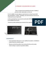 Magnetohidronamica-flujos Con Numero de Reynolds Bajos-campos de Presion y Aceleracion de Fluidos