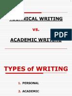 Escritura Tecnica y Escritura Academica