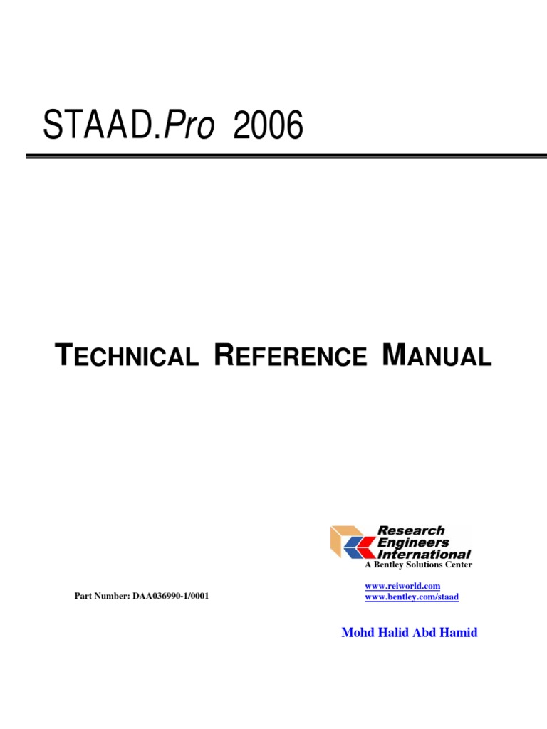 staad 1 pro 2006 technical reference halid cartesian coordinate rh scribd com CMS Technical Reference Architecture 2012 2013 Cod Technical Reference