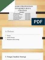Analisis Strategi Dan Manajemen Biaya Strategi