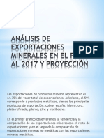 Análisis de Exportaciones Minerales en El Perú Al 2017