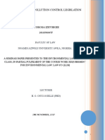 Evir law 2nd seminar paper _ DEVELOPMENT OF POLLUTION CONTROL LEGISLATION.doc