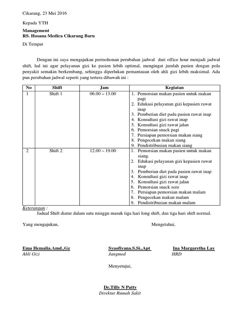 Surat Permohonan Jadwal