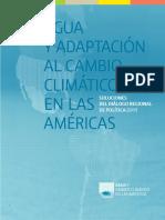 Agua y Adaptación Al Cambio Climático en Las Américas