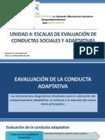 Unidad 4 Escalas de Evaluación de Conductas Sociales y Adaptativas