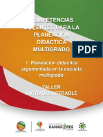 Taller Planeacion Didactica Multigrado