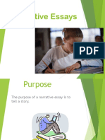 Narrative Essays Powerpoint